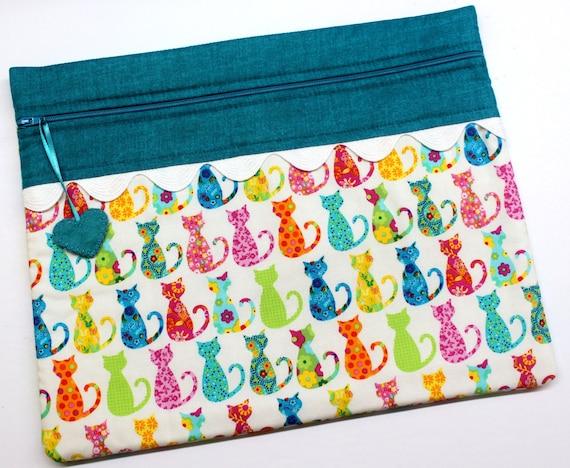Calico Kitties Cross Stitch Project Bag