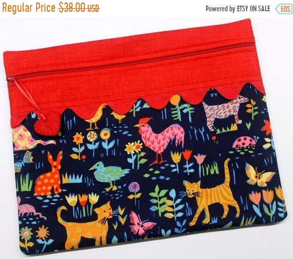 SALE Wild and Free Animals Cross Stitch Project Bag