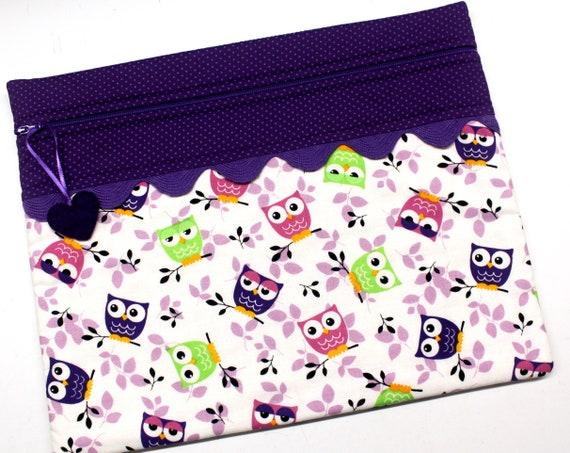 Purple Owls Cross Stitch Project Bag