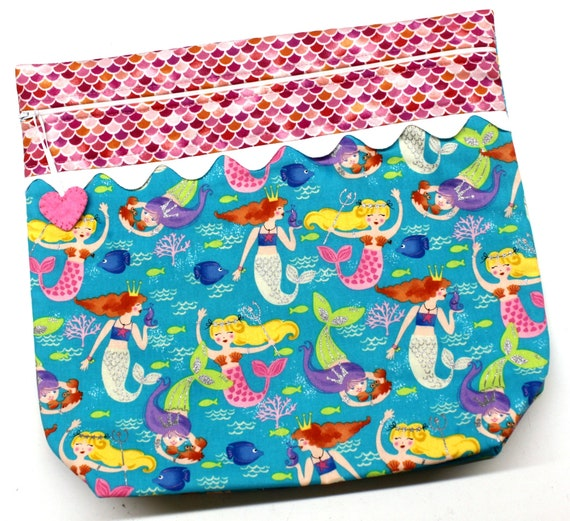 MORE2LUV Teal Pink Mermaids Project Bag