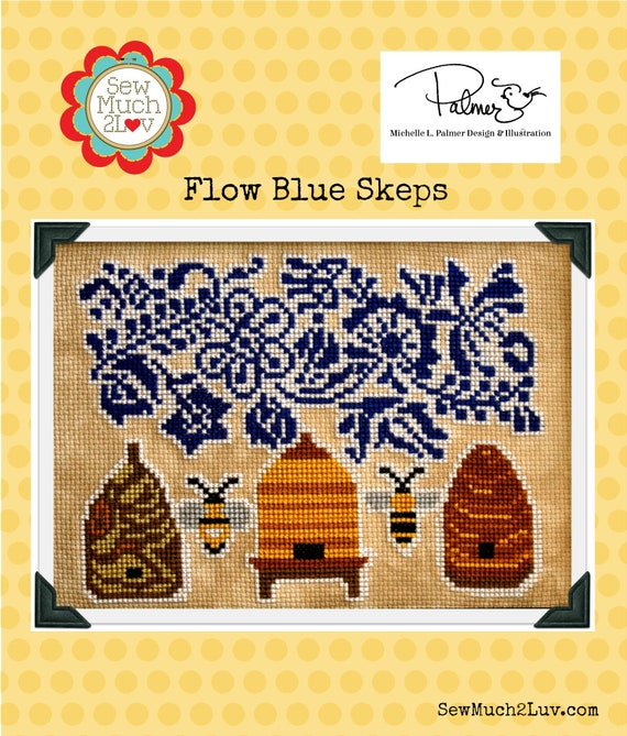 Flow Blue Skeps Cross Stitch Chart