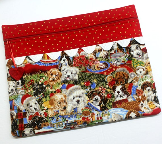 Santa Paws Cross Stitch Project Bag