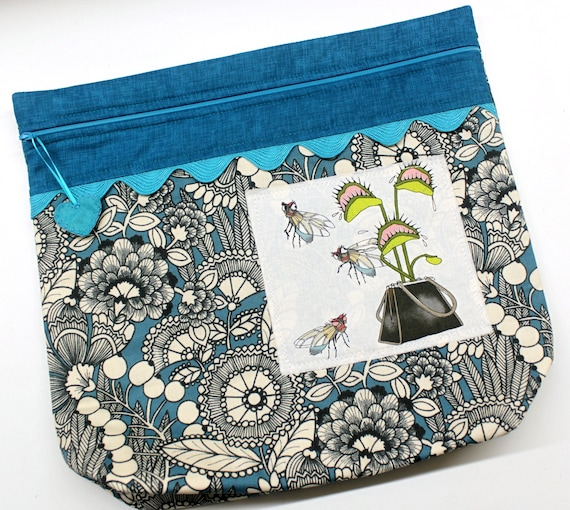 MORE2LUV Ghastlies What's in your Wallet? Cross Stitch Embroidery Project Bag
