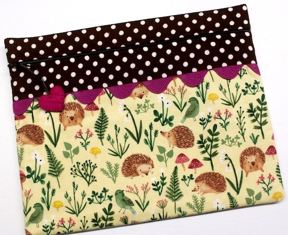 Spring Hedgehogs Cross Stitch Project Bag