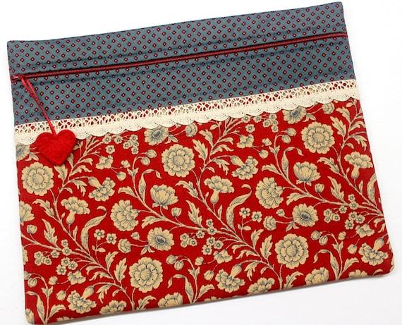 Fleur Rouge Cross Stitch Project Bag