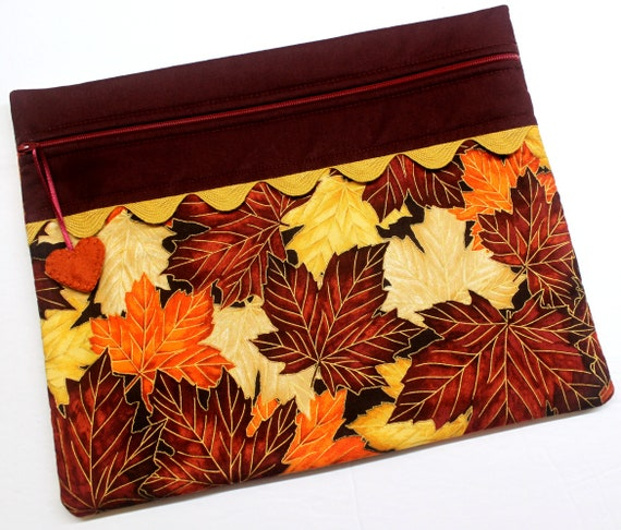 Golden Fall Leaves Cross Stitch Project Bag