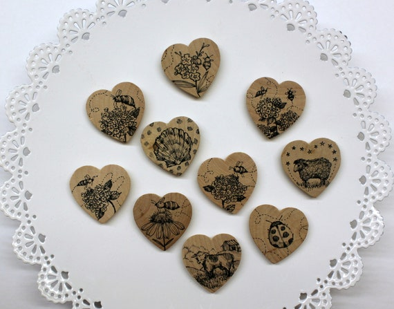 Choose Your Limited Edition Wooden Heart Needle Minder