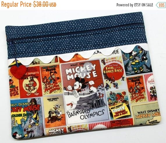 SALE Mickey and Friends Vintage Posters Cross Stitch Project Bag