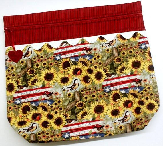 MORE2LUV Farmstyle Americana Cross Stitch Project Bag