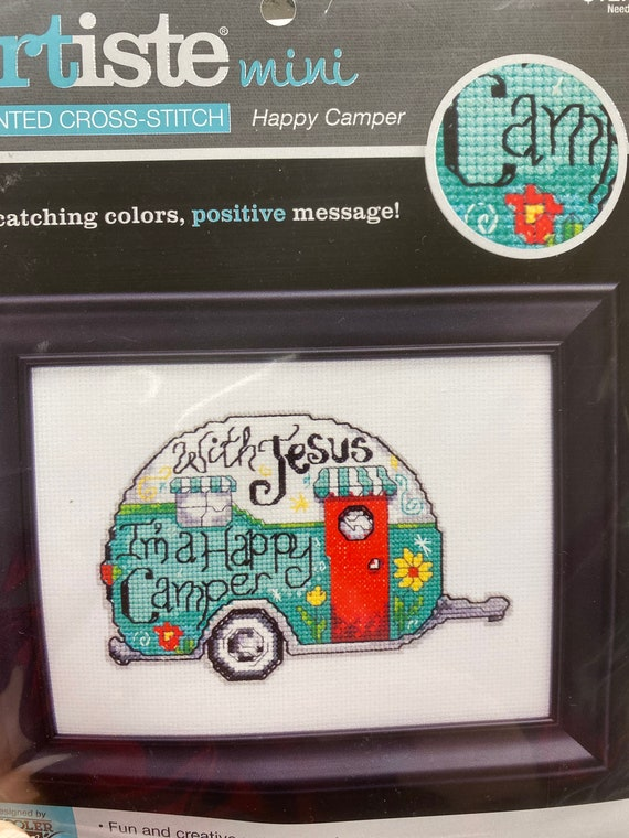 Artiste Mini  - Happy Camper Counted Cross Stitch Kit