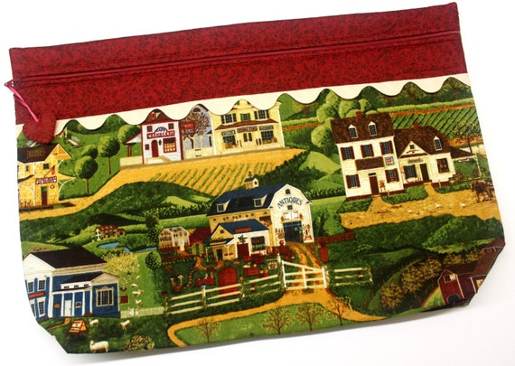 LOTS2LUV Old Town Cross Stitch Project Bag