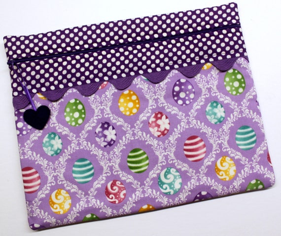 Damask Eggs Cross Stitch Project Bag