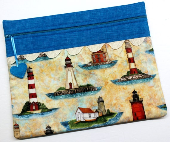 Lighthouse Cross Stitch Project Bag