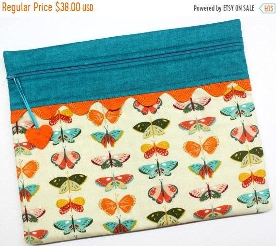 SALE Beautiful Butterflies Cross Stitch Project Bag