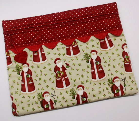 Sweet Santa Cross Stitch Project Bag