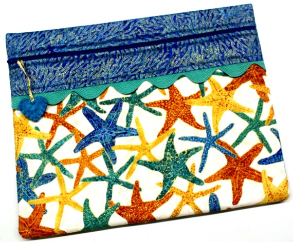 Metalic Gold Starfish Cross Stitch Project Bag