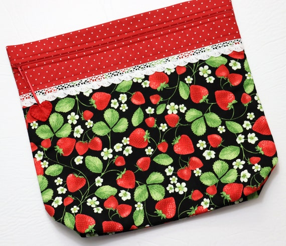 MORE2LUV Strawberry Fields Cross Stitch Project Bag
