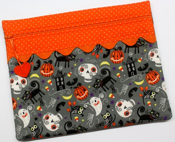 Halloween Party Cross Stitch Project Bag