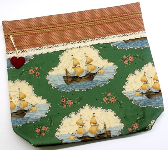 MORE2LUV Mayflower Voyage Cross Stitch Project Bag