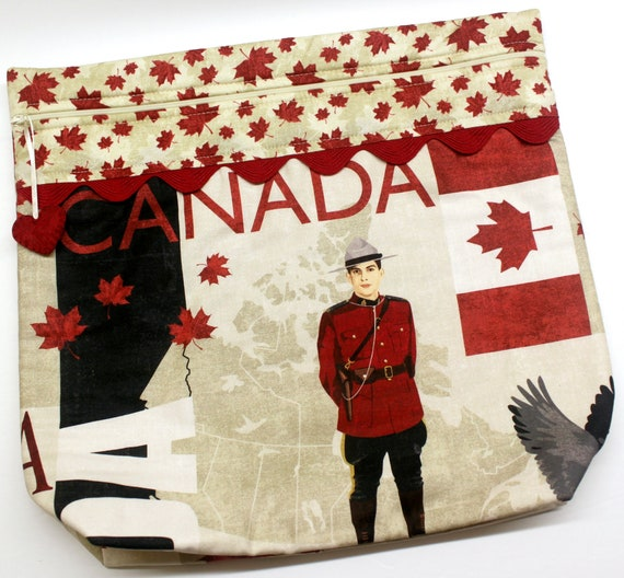 MORE2LUV Oh Canada Cross Stitch Project Bag