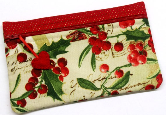 Side Kick Glittering Holly Berries