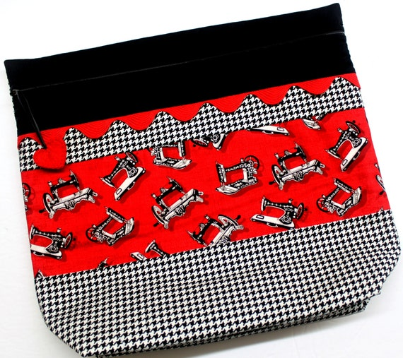 MORE2LUV Sew Happy Houndstooth Project Bag