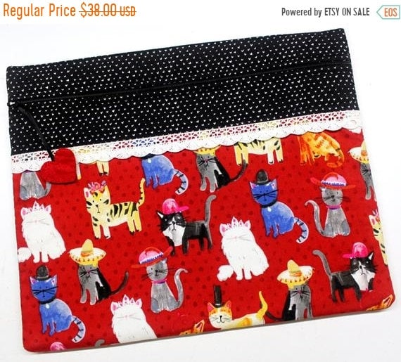 SALE Cats in Hats Cross Stitch Project Bag