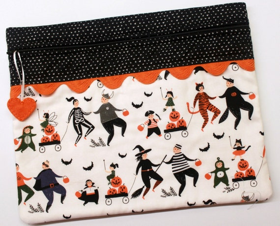 Halloween Parade Cross Stitch Embroidery Project Bag