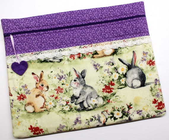 Watercolor Bunnies Cross Stitch Project Bag