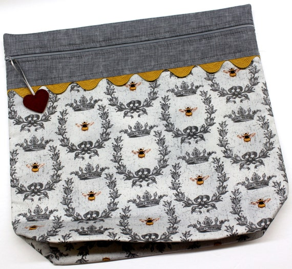 MORE2LUV Queen Bee Cross Stitch Project Bag