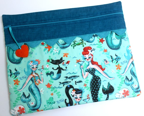 Happy Hour Mermaids Cross Stitch Project Bag