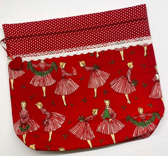 MORE2LUV Holiday Hostess Cross Stitch Project Bag