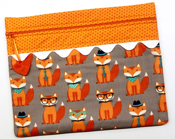 Hello Foxy Cross Stitch Embroidery Project Bag