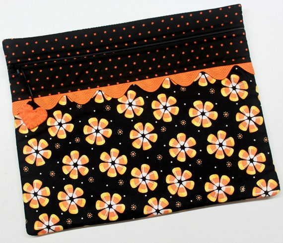 Candy Corn Flowers Cross Stitch Project Bag