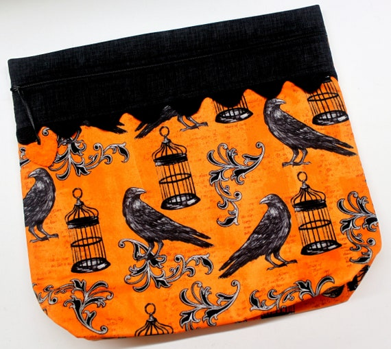 MORE2LUV Nevermore Crows Cross Stitch Project Bag