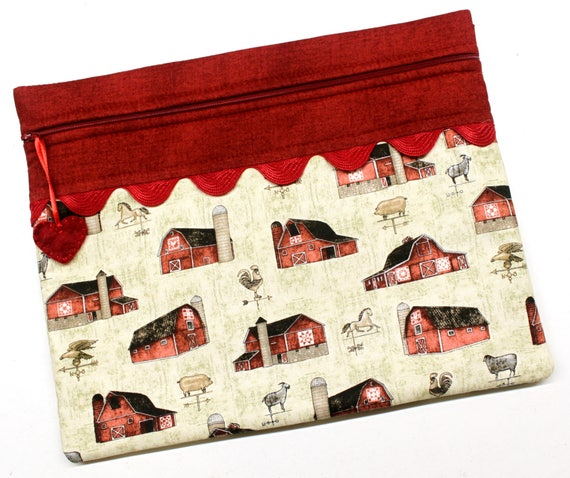 Farmhouse Barns Cross Stitch Project Bag