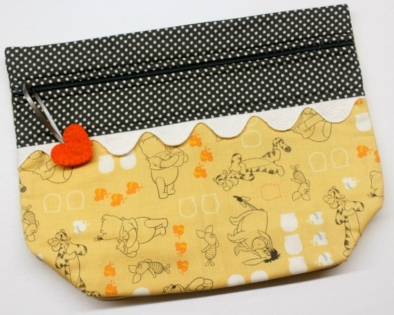 Lil' Big Bottom Pooh and Friends Cross Stitch Bag