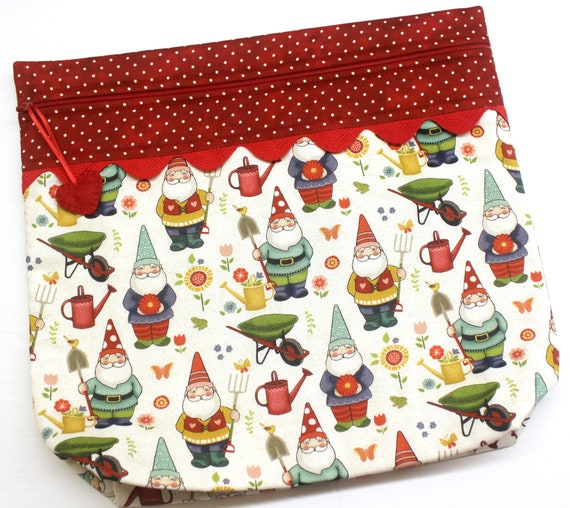 MORE2LUV Summer Gnomes Cross Stitch Project Bag