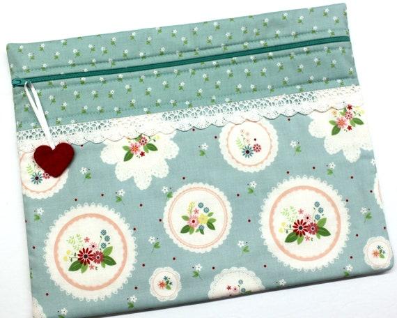 Vintage Doilies Cross Stitch Project Bag