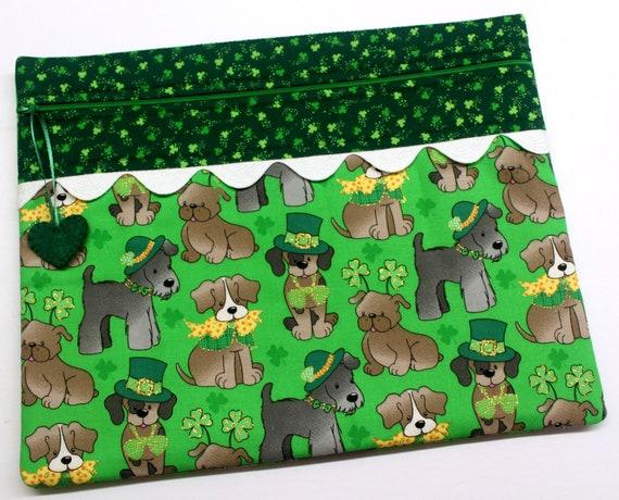 Lucky Dog Gold Glitter Cross Stitch Project Bag