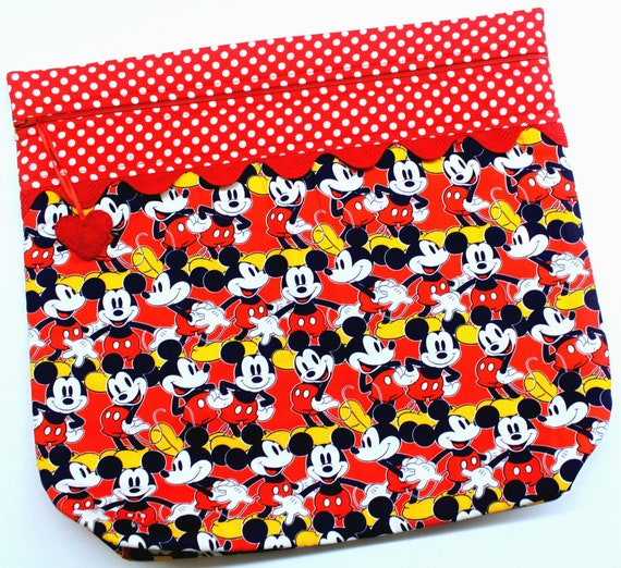 MORE2LUV Red Mickey Cross Stitch Project Bag
