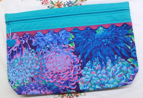 LOTS2LUV Japanese Chrysanthemum  Cross Stitch Project Bag