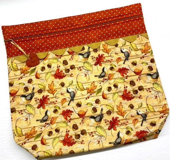 MORE2LUV Fall Finches Cross Stitch Project Bag