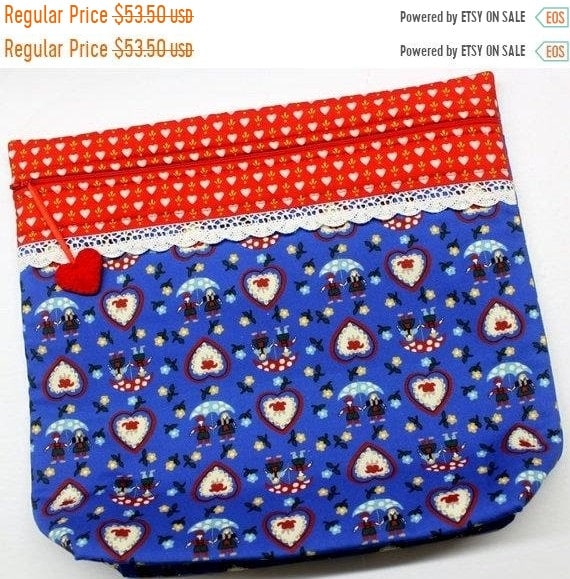 SALE MORE2LUV Bavarian Love Cross Stitch Project Bag