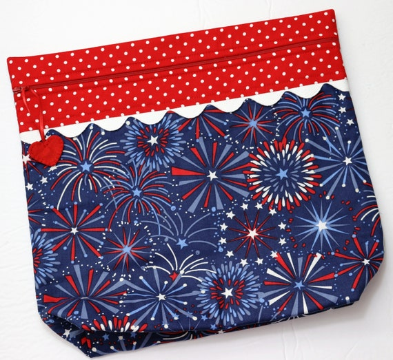 MORE2LUV Fireworks Cross Stitch Project Bag