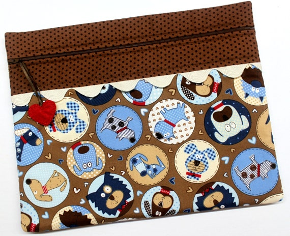 Polka Dot Pups Cross Stitch Project Bag