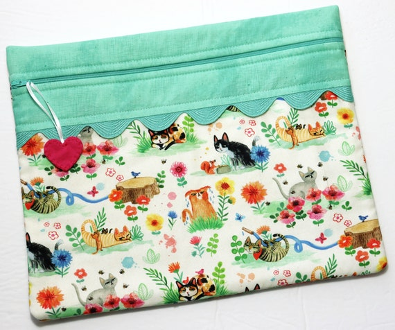 Garden Cats Cross Stitch Project Bag