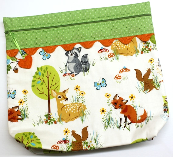 MORE2LUV Woodland Friends Cross Stitch Project Bag