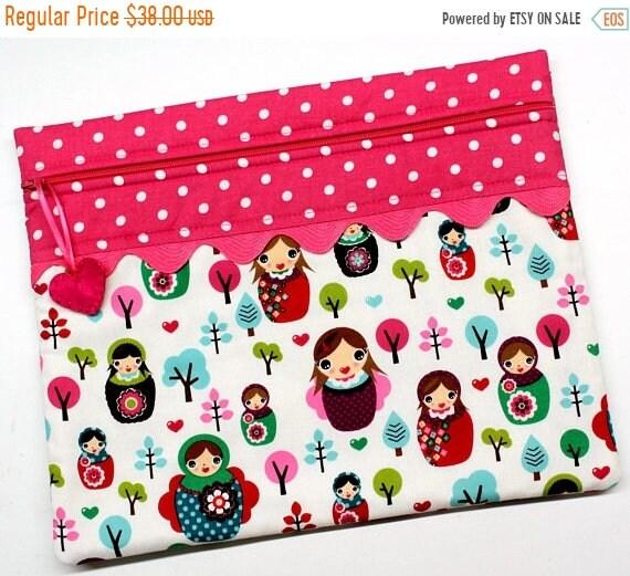 I Heart Matryoshkas Cross Stitch Project Bag