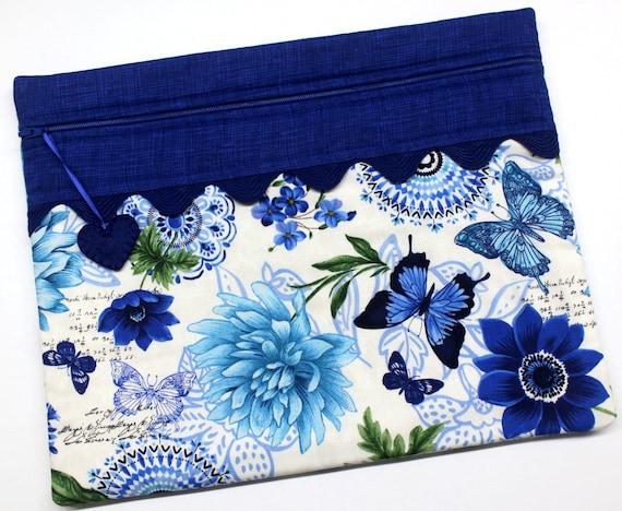 Botanical Blue Cross Stitch Project Bag